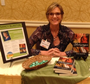 Set up for book signing at the FWA Conference Bookstore